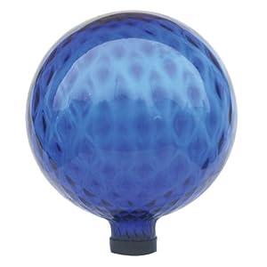 Garden Odyssey 10-Inch Glass Pattern Inlay Gazing Globe, Blue (Discontinued by Manufacturer)