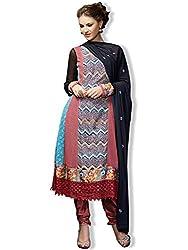Orange Fab Women's Anarkali Suit Dress Material