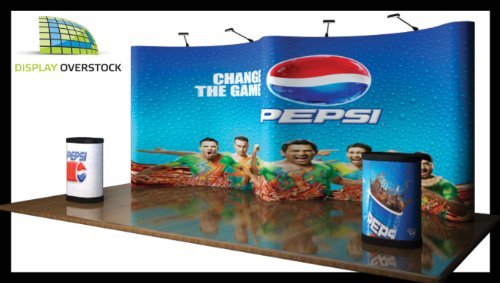 Trade Show Exhibit Display Pop Up Booth - 20' Gull Wing W/ Full Color Photomural Graphic Panels