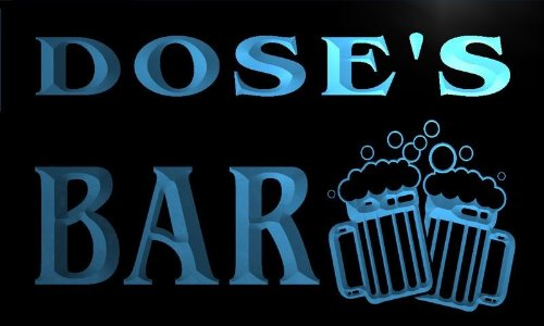 W028011-B Dose'S Name Home Bar Pub Beer Mugs Cheers Neon Light Sign