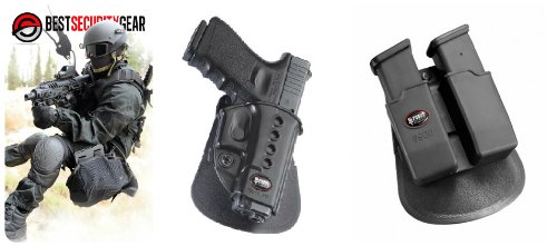 Fobus Evolution Paddle Holster for Glock 17 19 22 23 27 31 32 34 35 + Fobus Double Magazine Paddle Pouch for Glock Glock 17 19 22 23 27 31 32 34 35 - GL2ND 6900 + Best Security Gear Magnet (Glock 35 Magazine compare prices)