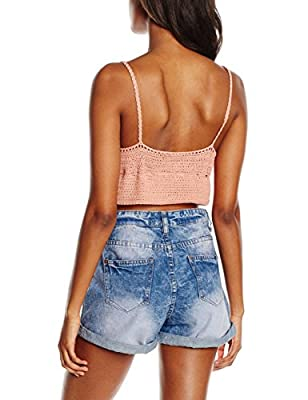 New Look Women's Tie Front Crochet Crop Tops