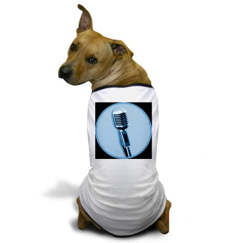 Cafepress Retro Microphone Dog T-Shirt - 2Xl White [Misc.]