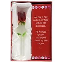 Forever Glass Rose with Poem ~ Valent…