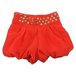 Little Kangaroos Girls Red Shorts (8903208876524_Red_4-5 Years)