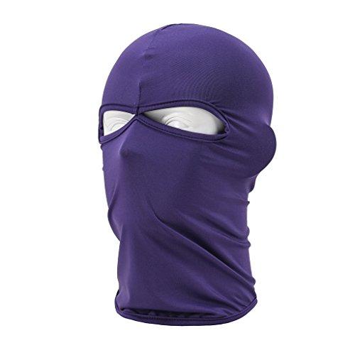 Maoko Outdoor Sports Lycra Balaclava- Cycling Hood Face Mask Hat Windproof Purple