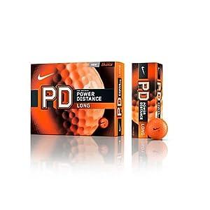 Nike Golf PD Long Power Distance Golf Balls, Orange
