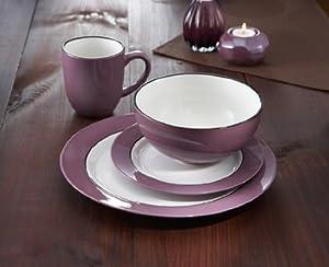 Regency 16 Piece Dinnerware Set Color: Plum