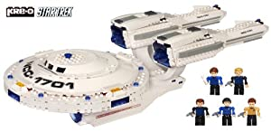 Kre-O A3137 Star Trek U.S.S. Enterprise 432pc Brick Set + 5 Kreon - inc. Spock