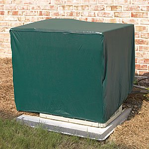 Weatherwrap square central air conditioner cover green for Central air conditioner covers exterior