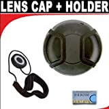 Professional Snap On Lens Cap + Deluxe Lens Cap Keeper For The Canon EOS 1D Mark IV SLR Digital Camera Which Has Any Of These (24-105mm, 24-70mm, 100-400mm, 70-200mm f/2.8L) Canon Lenses