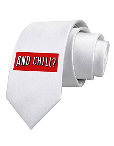 TooLoud And Chill Printed White Neck Tie