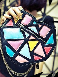 2013 Creative Eye Shadow Box Candy Colors Hit the Color Handbag Shoulder Bag