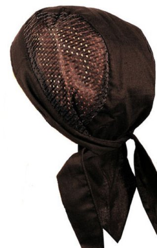 Fiumara Apparel Vented Head Wrap Black - Made in USA
