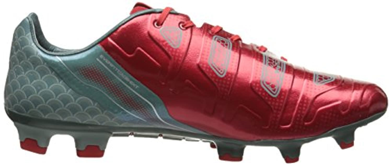 PUMA Men's Evo Power 1.2 Graphic FG Soccer Shoe, High Risk Red/White/Sea Pine, 12 M US
