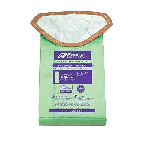 ProTeam 107314 Micro Filter 6 Qt. Bag For ProVac FS 6 Vacuum - 10 / PK (Proteam Provac Fs 6 compare prices)