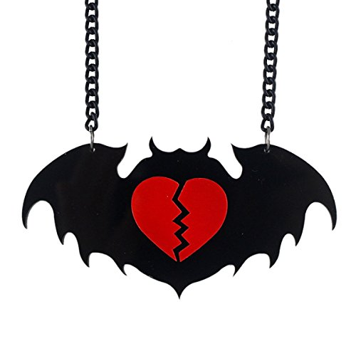 Bat Red Broken Heart Pendant Necklace (Nicki Minaj Hot Pics compare prices)