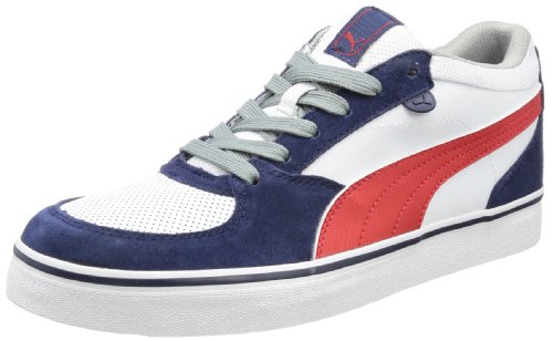 Puma Skate Vulc Low Top Mens Blue Blau (peacoat-white 10) Size: 8 (42 EU)