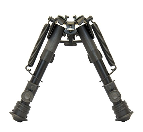 TipTop Bipod EZ Rifle Bipod 6″ – 9″ Sling Stud Mount, Extendable, Folding with Sling-attached Hole Part # S3-34659