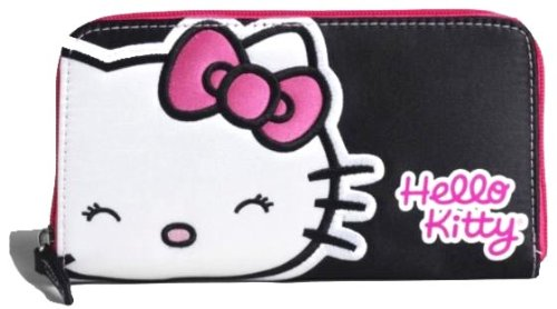 Hello Kitty Wallet Satin finish Black