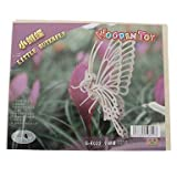 CeeMart DIY Wooden 3D Butterfly Style Puzzle (2pcs)