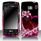 LG Ally VS740 Cell Phone Purple Love Protective Case