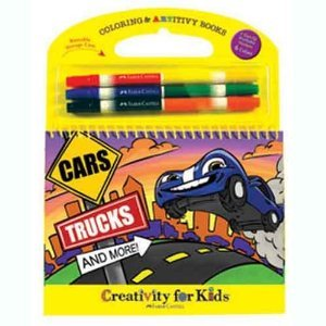 Creativity For Kids Coloring & Artivity Books Cars Trucks And More Arts & Crafts front-586532