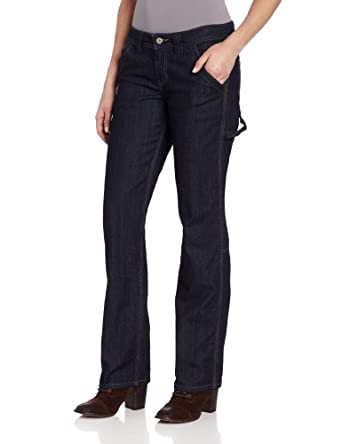 Dickies Women's Relaxed Fit Denim Carpenter Pant, Indigo Blue, 2 Regular