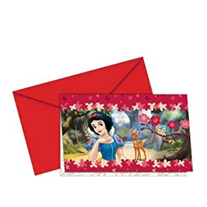 Snow White Folded Party Invitations, pack of 6