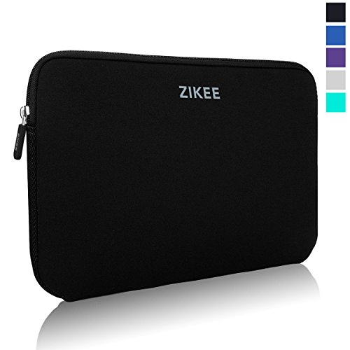 Zikee Laptop Sleeve Case per 15 15.6 Pollici Neoprene Water resistant Notebook Netbook Computer Portatile Computer Briefcase Carrying Case Cover Bag Custodia Borsa Involucro per Laptop, for Acer/ASUS F555LA 15.6/Dell Inspiron/HP/Samsung/Toshiba Satellite(Nero)
