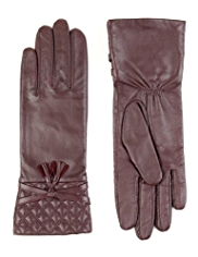 M&S Collection Leather Quilted Gloves