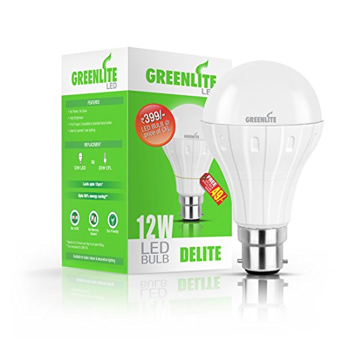 GREENLITE-12W,-0.5W-B22-LED-Bulb-(White,-Combo)