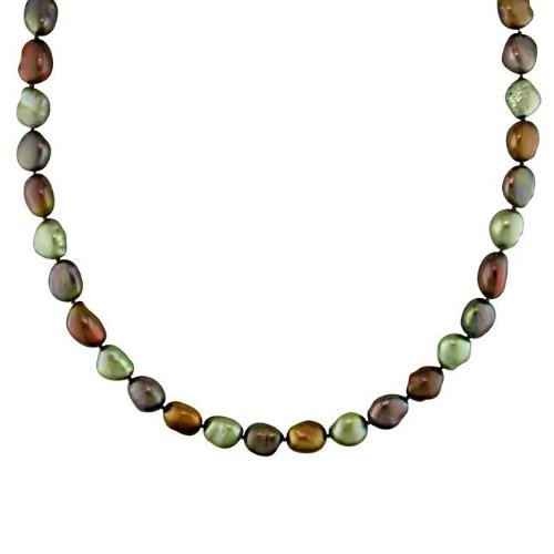 New York Pearls Multi-colored FW Pearl 32-inch Endless Necklace (9-10 mm)