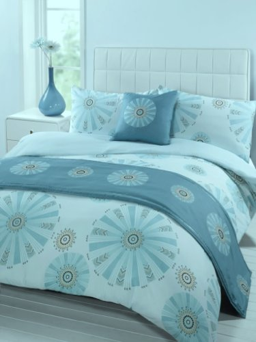 Hopi Teal Bed In A Bag Bedding Set, Double Bed