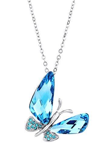 Colgante con Mariposa Cristal Swarovski Azul