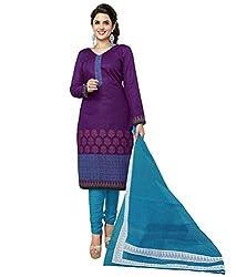 Azy Fabrics Women's Cotton Dress Material(320_FT_Blue)