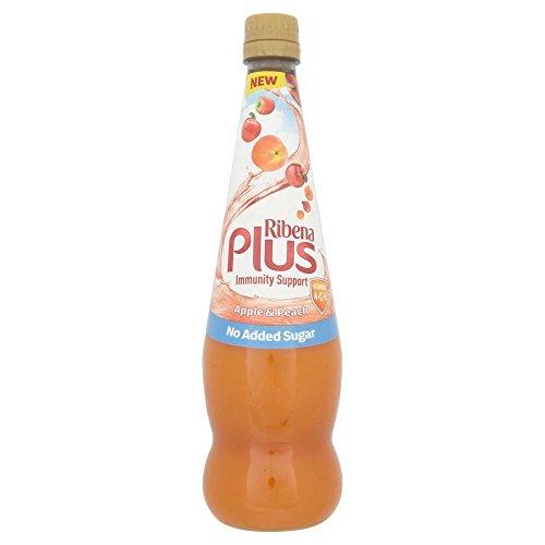 Ribena Plus Immunity Support Ace Apple & Peach Concentrate No Added Sugar (850Ml)