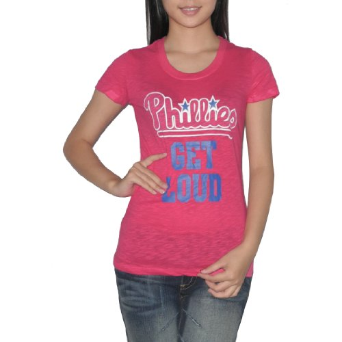 Pink Victoria's Secret Womens MLB Philadelphia Phillies T Shirt X-Small Rose at Amazon.com