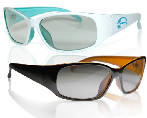 "2 Player split screen polarized gaming glasses - high quality - compatible with ""Dual Play"" by LG and ""Full Screen Gaming"" (passive version) by Philips - same technique, but no 3D glasses - with pouch from Schleiter Jauernig 3d"
