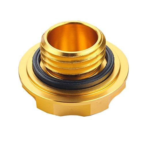 Dewhel Billet Engine Oil Fuel Filler Tank Cap Cover For Honda Acura Civic TL Color Gold Hardware ...