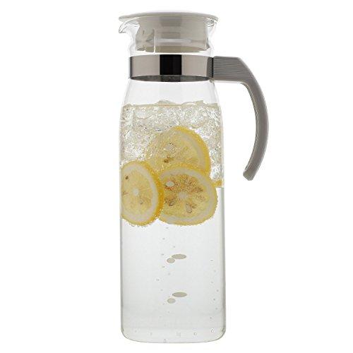"Hario ""Slim"" Refrigerator Water Bottle, 1400Ml, White"