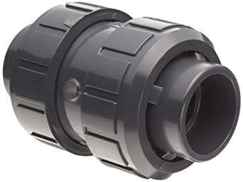 Asahi America True Union PVC Check Valve, EPDM Seat, Socket Weld & NPT Female Convertible