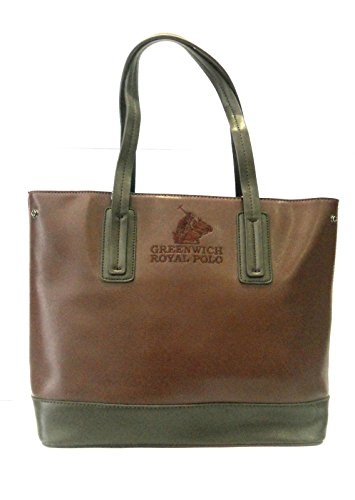 GREENWICH ROYAL POLO - BORSA DONNA IN SAFFIANO COL.BORDEAUX/MARRONE - art.PG16W-136-01 D