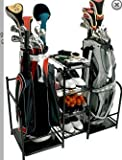 Golf Organizer - Holds Two Bags - Sturdy Steel