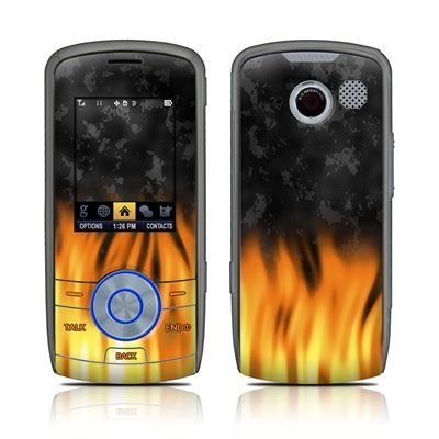 BBQ Flame Design Protective Skin Decal Sticker for the LG LX370 Cell Phone