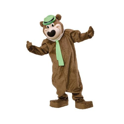 [Yogi Bear Deluxe Adult Licensed Mascot Costume Size Standard] (Yogi Bear Halloween Costume)