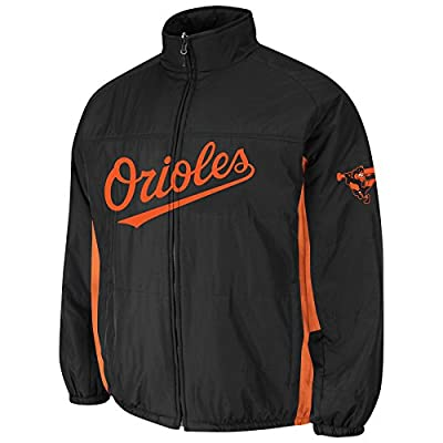 Baltimore Orioles Black Double Climate On-Field Jacket by Majestic