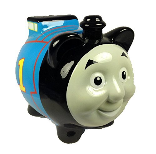 Thomas the Tank Engine 1 Blue Ceramic Piggy Bank, Raph Coin Bank, Thomas Coin Deposit