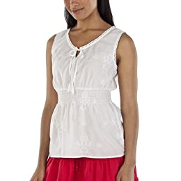 Product Image Merona® Women's Smocked Waist Blouse - Fresh White