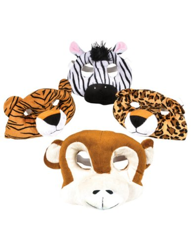 Adult Child Tiger Plush Halloween Zoo Animal Masks Costume Accessory